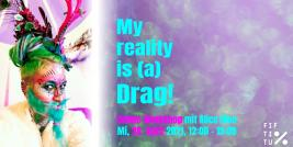 Bildsujet: Drag Kinging Online-Workshop mit Alice Moe, Gestaltung: Rebekka Hochreiter