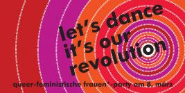 Flyer: Queer-feministische Frauen*-Party am 8. März